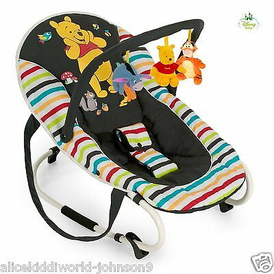 New Hauck Disney Duluxe Winnie the Pooh Tidytime Baby bouncer rocky bungee