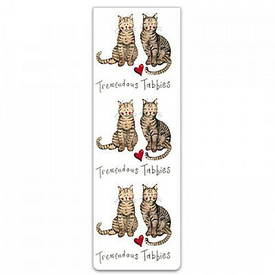 Small Magnetic Cat Bookmark Tabbies by Alex Clark, small gift stocking filler