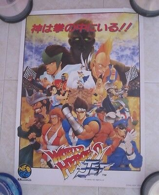 1994 Snk World Heroes 2 Jet Poster
