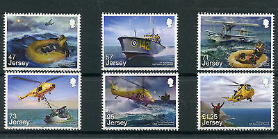 Jersey 2016 MNH RAF Search & Rescue 75 Years 6v Set Helicopters Ships Boats
