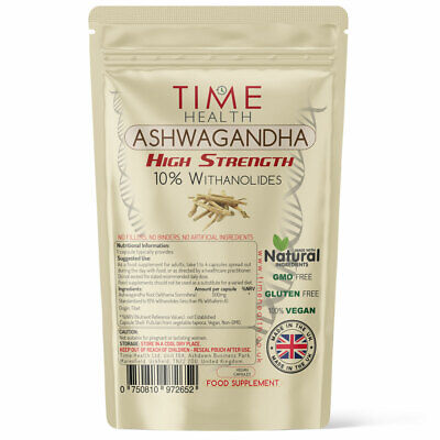 Ashwagandha Root Capsules Natural Extract 10% Withanolides Adapt to Stress