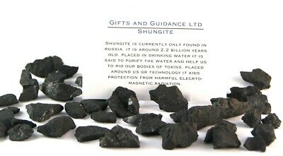 Shungite Raw 50 Grams 20-30 Pieces Electromagnetic Protection