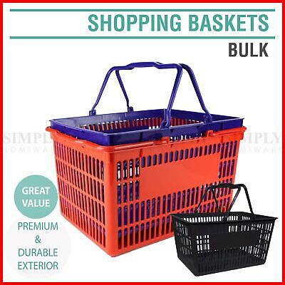 Plastic Shopping Baskets Basket Hand Business Supermarket Store Shop Bulk
