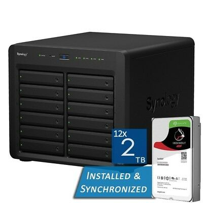 Synology DS2415+ 12 Bays NAS + 24TB 12x Seagate 2TB ST2000VN004