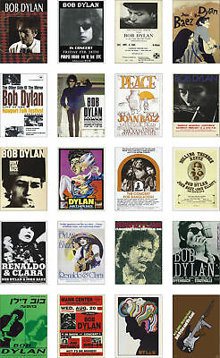 Bob Dylan Concert Posters Trading Card Set