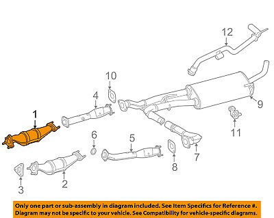2012-2016 Fit NISSAN NV1500 NV2500 NV3500 4.0 Rear Catalytic Converters 2 PIECES
