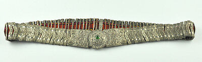 Amazing Silver 19c Ottoman Turkish Folk Handmade Belt Buckle Vintage Antique