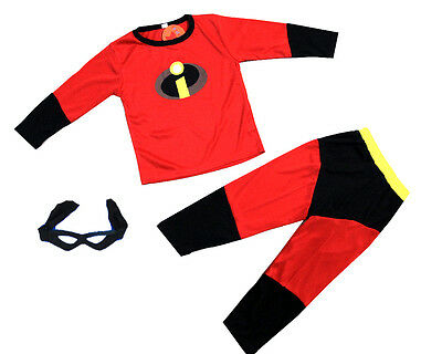 New Size 2-8 Kids Costumes Boys Girls Incredible Superheroe Mask Party Dress Up