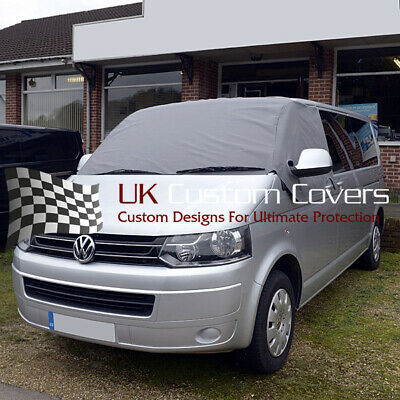 Vw T5 T6 Transporter Van Deluxe Windscreen Screen Curtain Wrap Cover 190 Grey