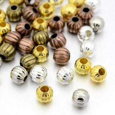 Packet 20 x Mixed Plated Iron 8mm Plated Round Spacer Beads HA15130