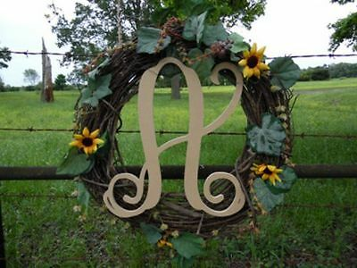 """Wooden Letters Large 12"""" X 1/4 Monogram Font Wall Hanging"""