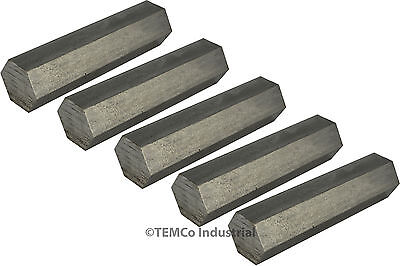 """5 LOT 3/4"""" Inch 1"""" Long 304 Stainless Steel Hex Bar Lathe SS Rod Stock .75"""""""