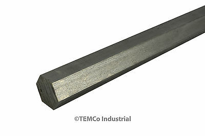"""7/8"""" Inch 24"""" Long 304 Stainless Steel Hex Bar Lathe SS Rod Stock .875"""""""
