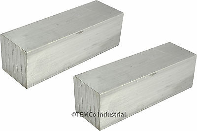 "2 LOT 1"" Inch 2"" Long 6061 Aluminum Square Bar Mill Rod Stock"