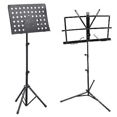 Music Conductor Stand Sheet Holder Adjustable Heavy Duty Foldable Tripod Base