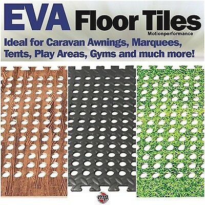 4 x Soft Padded Eva Foam Floor Mat Carpet Tiles for Awning, Tent, Gym & Marquee