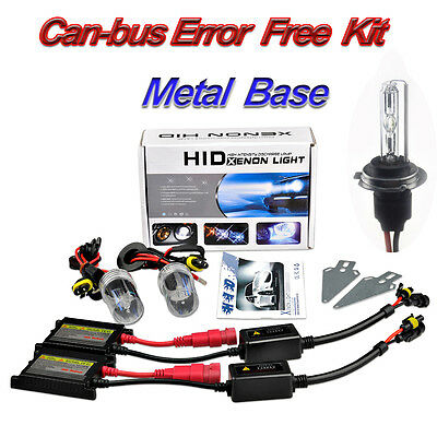 XENON HID CONVERSION KIT Can-Bus ERROR FREE H7 6000K 8000K With Metal Based