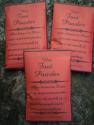 Hot Foot Powder Magick spell supplies wicca wiccan talisman amulet Witch Hoodoo