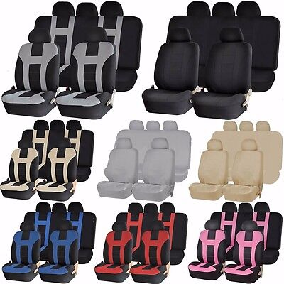 Double Stitched Combo Van Front Seats Back Bench Covers 9pc