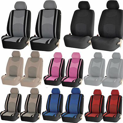 2PCS Universal Mesh Truck SUV Honeycomb Front High Back Bucket Pair Seat Cover