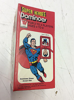 1979 Whitman DC Super Heroes Dominoes Game! NEW!