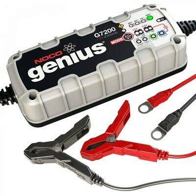 NOCO Genius G7200 12V/24V 7.2A Smart Battery Charger Maintainer Boat ATV Tender