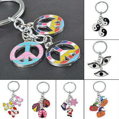 JD 1PC Fashion Charms Eyes Evil Key Chain Key Ring Keyfob Gift