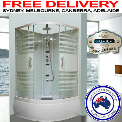 Asnzs Glass Shower Screen Cubicle Bathtub Enclosure Jets Mixer Easy Diy Assembly