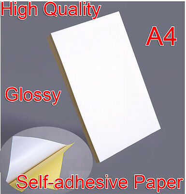 21x29cm A4 Blank Glossy Self-adhesive Sticker Sticky Back Label Printer Paper