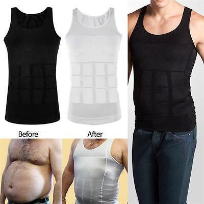 Mens Slimming Tummy Shaper Vest Belly Waist Girdle Corset Shapewear Underwear