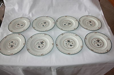 "8 Vintage Royal Doulton Old Colony Tc 1005  6 5/8"" Bread Plates Lightly Faded"