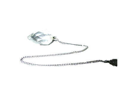 Crystal Quartz Drops Faceted Pendulum Dowsing Genuine Aura Gift Metaphysical A++