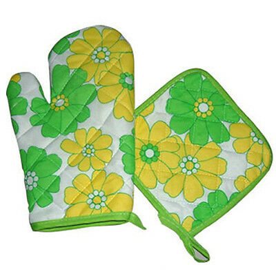 Cute Oven Glove Heat Proof Mat Pot Pad Microwave Cotton Kitchen Protector