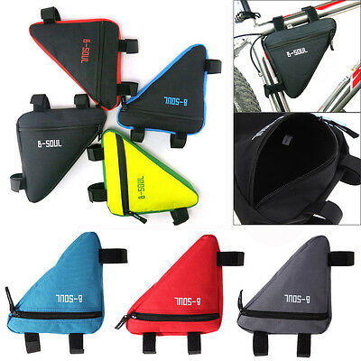 Triangle Cycling Bike Front Tube Frame Bicycle Bags Pouch Holder Saddle Panniers