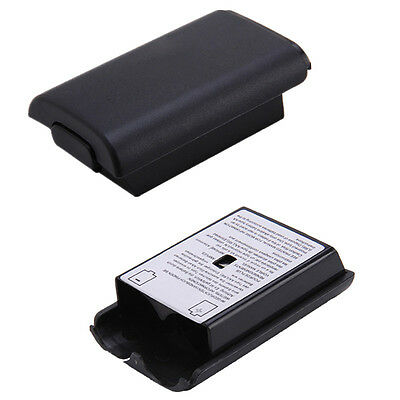 2x Battery Back Cover Case Shell Pack Part fr Xbox 360 Wireless Controller Black