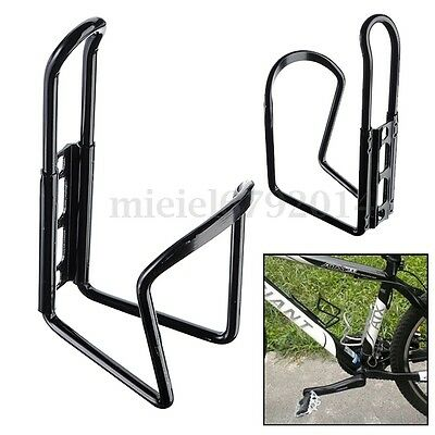 Alloy Aluminum Bike Bicycle Cycling Drink Water Bottle Rack Holder Cage Black