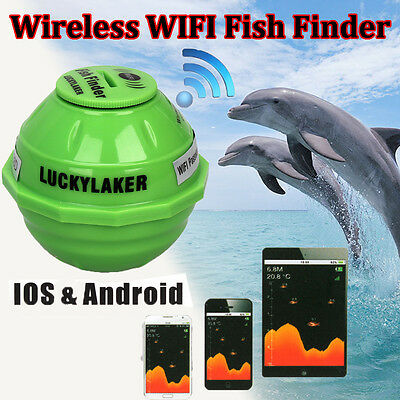 Sonar Wireless WIFI Sea Fish Detect Finder Fishfinder 50M/130ft For IOS Android