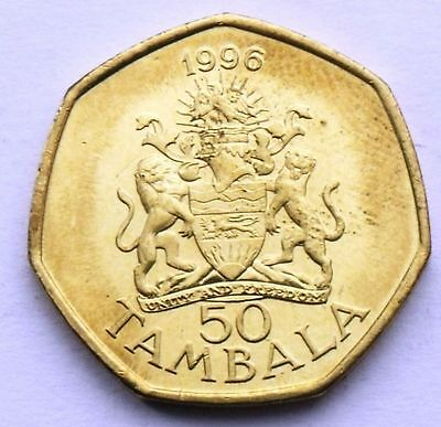 Malawi 50 Tambala 1996 Lion - Coat Of Arms Unc Coin