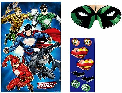 Justice League Birthday Party Game for 8 - Pin the Emblem on the Superhero
