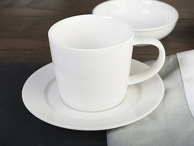 M by MIKASA White Vitrified Porcelain TEA CUP and SAUCER