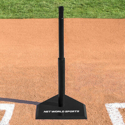 Telescopic Baseball Hitting Tee (Black Rubber) (4.5kg) (Maximum Height 1.2m)