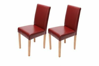 2er set stuhl polsterstuhl k chenstuhl rot kunstleder st hle lehnstuhl rote neu eur 85 40. Black Bedroom Furniture Sets. Home Design Ideas