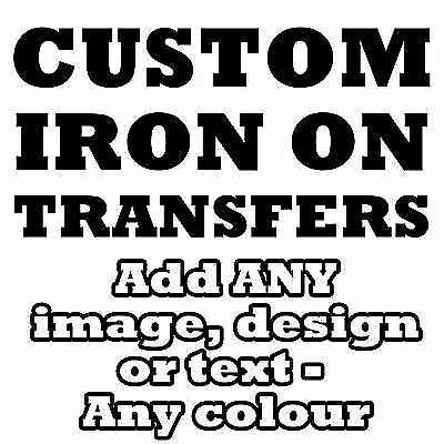 Personalised Iron Transfer T Shirt Tshirt With Image And Or Text!!