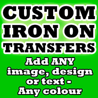 Personalised Iron Transfer T Shirt Tshirt With Design Image Text Colour!!