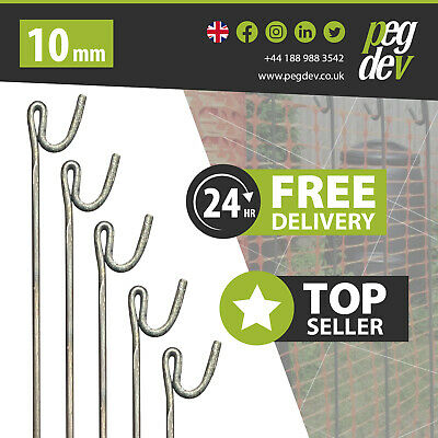 METAL FENCING PINS 10mm STEEL BARRIER FENCE STAKES EVENT ROAD PIN 1300mm
