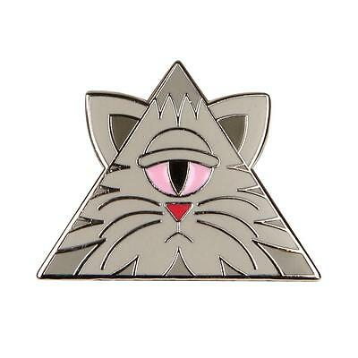 Buff Monster Illuminati Kitty Enamel Pin