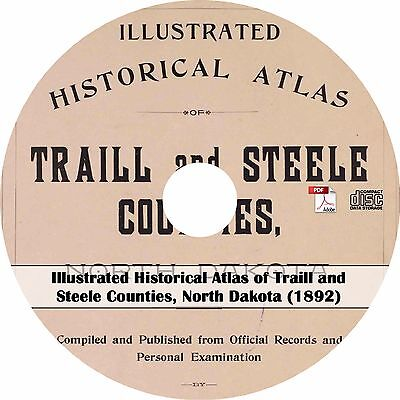 1892 Atlas of Traill & Steele County, North Dakota - ND History Genealogy Maps C