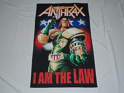 Anthrax I Am The Law Textile Flag