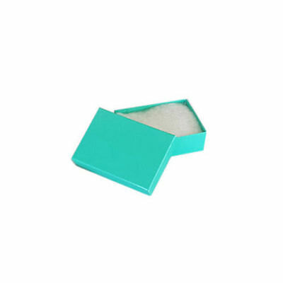 """SALE! Lot of 50 pcs 1 7/8""""x1 1/4""""x5/8"""" Teal Green Cotton Filled Jewelry Boxes"""