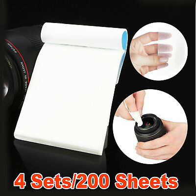 200 Sheets Camera Lens Cleaning Cleaner Paper Tissue Dust Wipe OZ